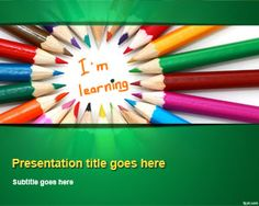 Kids Learning PowerPoint Template 170314EDUCATION