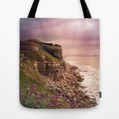 Dorset Coast Tote Bag pink paradise sunset