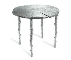 Enchanted Forest Café Table Polished Aluminum - Faux Bios
