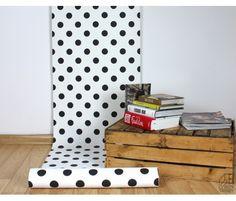 Tapeta vliesová s puntíky Black and White velikost 53 cm x m Black And White, Color, Attic, Home, Bedroom, Loft Room, Black N White, Black White, Colour