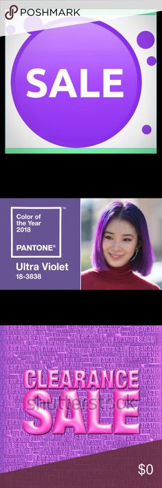 Purple Frenzy Sale! 50% off! Ultra Violet is the color of the year!  Anything in my closet today that is Purple, Violet, or in that color scheme is 50% off! Today only! Other