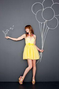 Photo by Shannon Greer – yellow dress. Photo by Shannon Greer – Chalk Photos, Draw On Photos, Chalk Photography, Creative Photography, Chalkboard Photography, Tableaux Vivants, Instagram Wall, Sidewalk Chalk Art, Photo Portrait