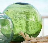 Our Found Glass Buoys are crafted from hand-blown glass