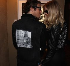 Lost Warhols on Jackets - Artist Gregory Siff at exhibition at Teddys in Hollywood