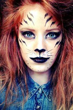 White Tiger Halloween Makeup