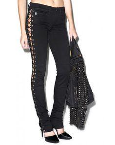Tripp NYC She Devil Side Lace Pants from Dolls Kill