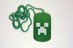 Minecraft Creeper Face Dog Tag Minecraft Wolf, Minecraft Gifts, Minecraft Ideas, Minecraft Birthday Party, Laser Cut Acrylic, Gadget Gifts, Gifts For Boys, Dog Tags, Dog Tag Necklace