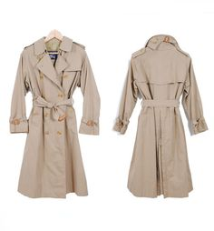 1980s Vintage Burberry Trench Coat | Recollect Vintage #vintage #trenchcoat #vintageburberry #classics
