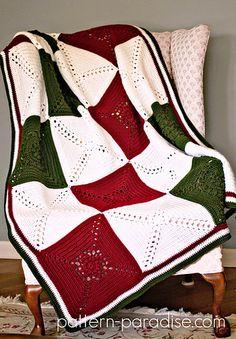Rosary Hill Blanket pattern by Maria Bittner Colchas Navideñas 2e146fcba23