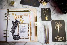 Goal Spread for the Bullet Journal - 8 Bullet Journal spreads to make you feel better.