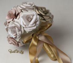 Bouquet de rosas peroladas
