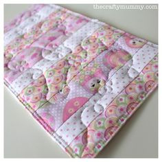doll quilt pink