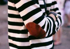 stripes + elbow patch