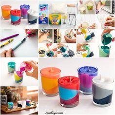 DIY crayon candles candles diy crafts home made easy crafts craft idea crafts ideas diy ideas diy crafts diy idea do it yourself diy projects diy craft handmade craft candle