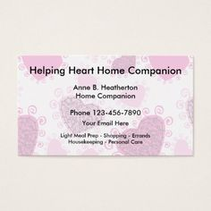 92 best home health aide images on pinterest business cards carte home care companion business card colourmoves