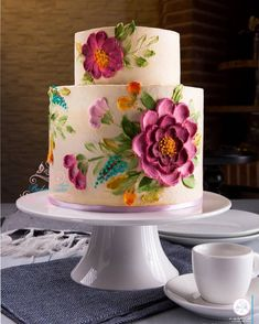 Beautiful pallet watercolor buttercream painting cake - My WordPress Website Gorgeous Cakes, Pretty Cakes, Amazing Cakes, Bolo Floral, Floral Cake, Cake Decorating Techniques, Cake Decorating Tips, Bolo Cake, Wedding Cake Designs