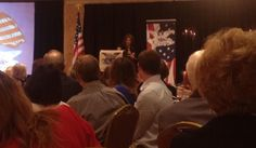 Packed room Michelle Bachmann speaks at Eagle Council in St. Louis.