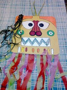 mascara india de carton
