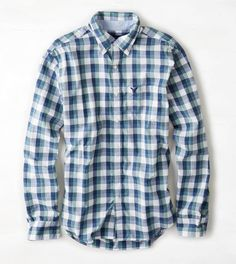 AEO Plaid Button Down Shirt