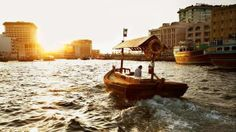 Journeying home After a day of work, many locals stay away from subways and opt to take abras -- traditional water taxis -- from the Deira to the Bur Dubai side of Dubai creek. The trip takes around five minutes. #dubai #uae