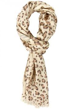 Cream Peach Leopard Print Scarf Viscose Scarves  Wrap Warm Soft Animal Print Scarf 68X20 Scarves Fashion Accessories Great Gift on Etsy, $10.95