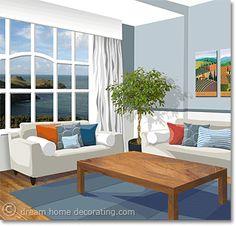 blue-orange complementary room color scheme