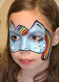 how to paint rainbow dash facepaint - Google Search