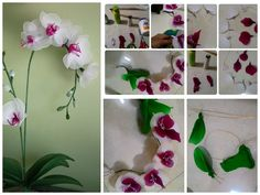 Orchid from nylon cloth