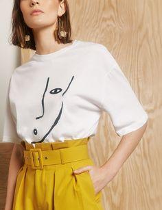 Mustard Paperbag Belted Waist Pants