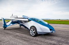 New Flying Car Spreads Its WIngs : Discovery News This is the Aeromobile, currently considered one of the best-looking, most-plausible flying car out there!  At just 20-feet long, the car can fit in most (large) garages and gas station lines. Take it to the airport, extend the wings, and then you've got an airplane!