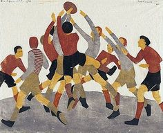 Football, 1936 - linocut by Ethel Spowers African American Artist, American Artists, Illustrations, Illustration Art, Art Deco, Sports Art, Australian Artists, Art History, Art For Kids
