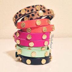 Tory Burch stackable bracelets