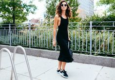 Lily Aldridge in Adidas shoes and with a Givenchy bag
