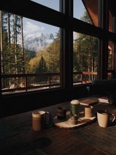 eartheld: mostly nature - Let's get cozy - hygge home inspiration Rustic Home Design, Window View, Cabins In The Woods, Rocky Mountains, Snowy Mountains, Appalachian Mountains, Colorado Mountains, Architecture, My Dream Home