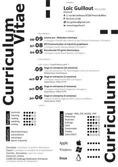 pure white and black, bold typo  40 Stunningly Creative Resume Designs on DeviantArt
