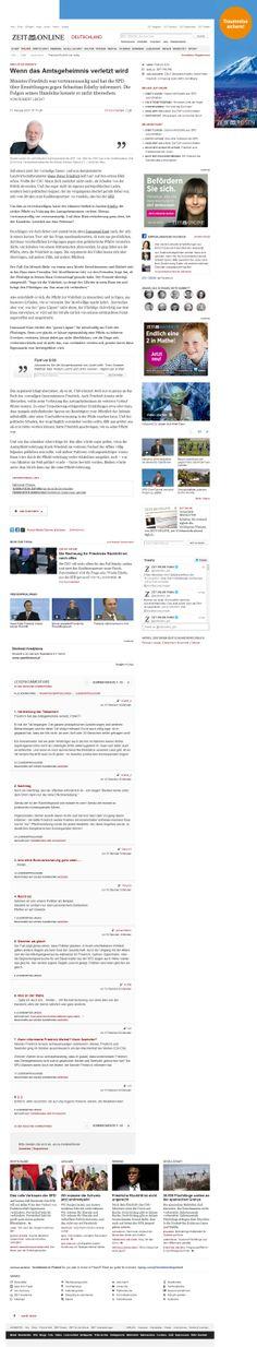 Die Zeit Article page