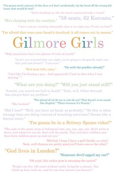 Gilmore Girls, one if my favorite shows! This is definite sister show! Gilmore Girls Lorelai, Gilmore Girls Quotes, Tv Quotes, Movie Quotes, Girl Quotes, Babette Ate Oatmeal, Favorite Quotes, Favorite Tv Shows, Glimore Girls