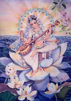 Sarasvati. I want this framed!  Google Image Result for http://i301.photobucket.com/albums/nn56/omhealing/sarasvatiBIG.jpg