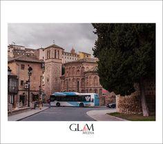 Toledo bus on the narrow streets by www.glamartmedia.com