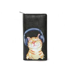 Music lover cat wallet - black | Nice Shoes | Canada's Vegan Shoe Store | Vancouver BC
