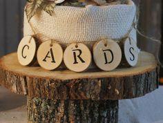 Log Slice Wedding Cards Table Sign, Wedding Card Box Sign, Card Box for Wedding…