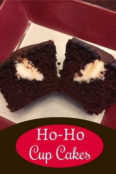 Make regular chocolate cupcakes, then click for the recipe for the Ho-Ho filling and frosting recipe!