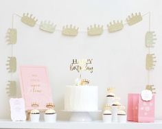 Create this pretty blush princess party with help from this gorgeous petite party kit from Mooico. Party Kit, Princess Party, Blush, Place Card Holders, Create, Celebrities, Birthday, Inspiration, Style