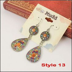 19 colors New Sale Vintage Earrings Fashion Earrings Statement Jewelry ,Wholesale .dropshipp ,free shipping  SP003-13