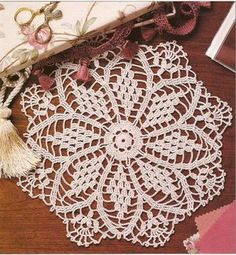 Crochet Doily Pattern Crown Jewels Doily on eBid United Kingdom