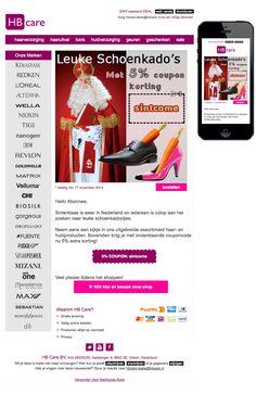 Sinterklaas is weer in Nederland en iedereen is volop aan het zoeken naar leuke schoenkadootjes.  Neem eens een kijkje in ons uitgebreide assortiment haar- en huidproducten. Bovendien krijg je met onderstaande couponcode nu 5% extra korting! Mail Marketing, Revlon, Campaign