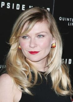 Kirsten Dunst Blonde Hair Color Idea: Waves of platinum and caramel blonde