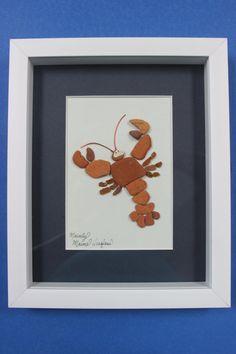 Sea Glass Art Maine Lobstah Captain by MainlyMaineSeaglass on Etsy