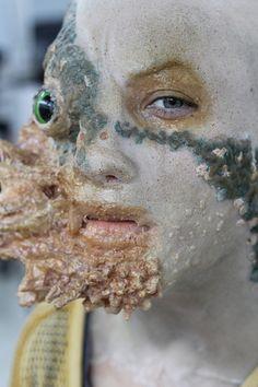 Make-up Designory Gory special fx halloween makeup scary gross bloody Scary Makeup, Sfx Makeup, Costume Makeup, Makeup Art, Character Makeup, Character Design, Prosthetic Makeup, Monster Makeup, Theatrical Makeup