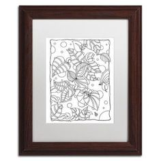 "Trademark Art ""Leaves"" by Kathy G. Ahrens Framed Graphic Art"